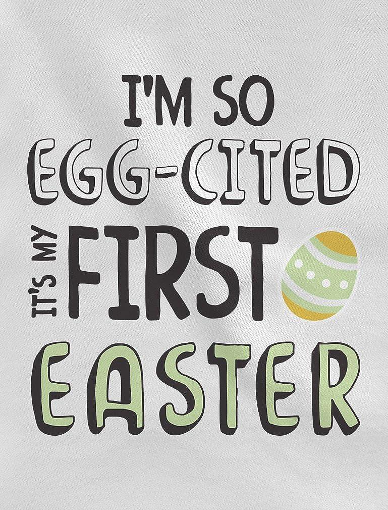 9f394b80e98 TeeStars - I m So Egg-Cited It s My First Easter Babies Bodysuit Baby  Onesie  Amazon.ca  Clothing   Accessories
