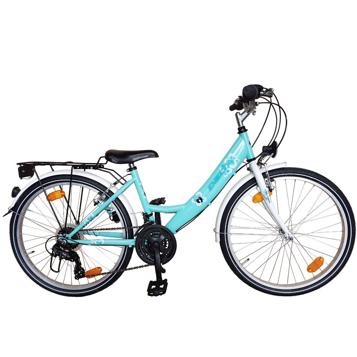Fahrrad Kinderfahrrad 24 Zoll 18 Gang Shimano STVO Mint Harmoni