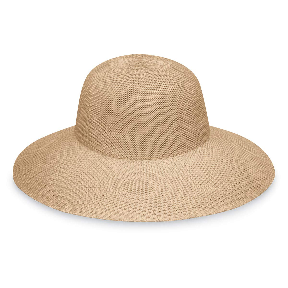 Wallaroo Hat Company Women's Victoria Diva Sun Hat- Packable Straw Hat, Tan