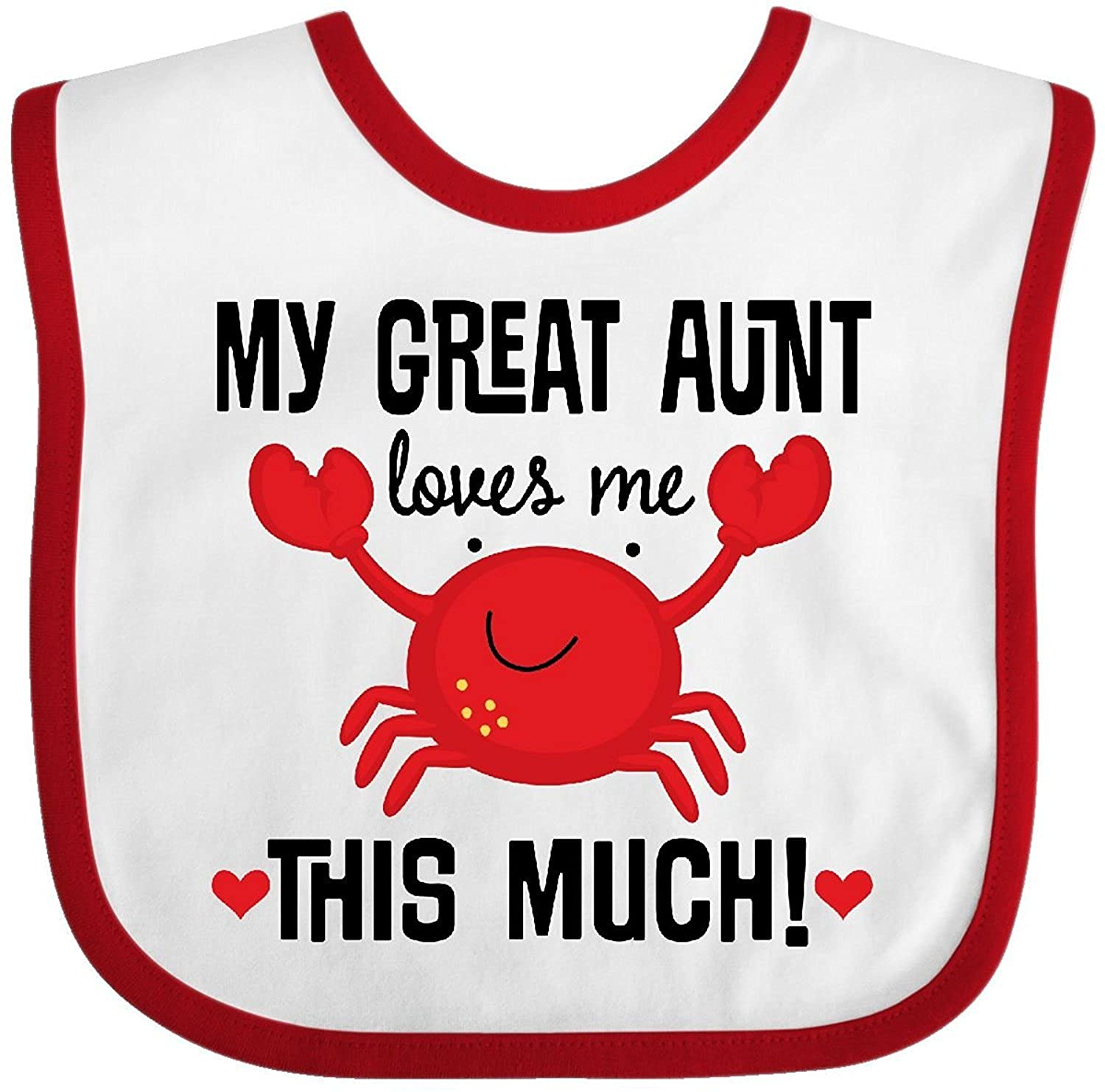My Great Aunt Loves Me Baby Bib Cecil Beard