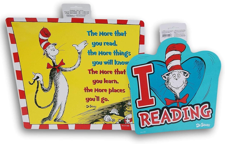 Classroom Supply Dr. Seuss Themed Reading Room Decor - 2 Piece