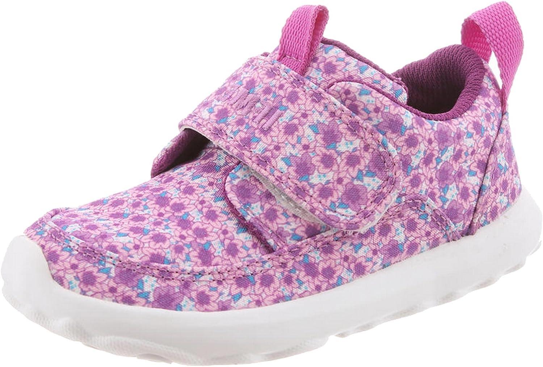 9 M US Little Kid, Purple Flower IFME Childrens Slip-On Happi Sneakers