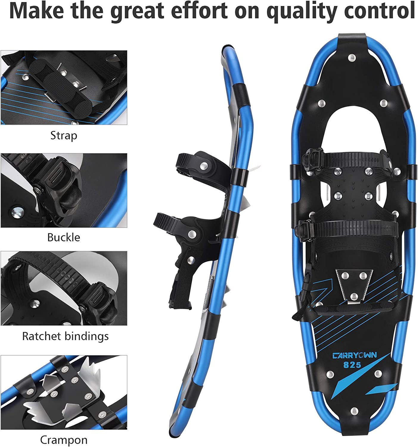 Gpeng 4-in-1 Xtreme Lightweight Terrain Snowshoes for Men Women Youth Kids 14//21//25//27//30 Light Weight Aluminum Alloy Terrain Snow Shoes with Trekking Poles and Free Waterproof Leg Gaiters