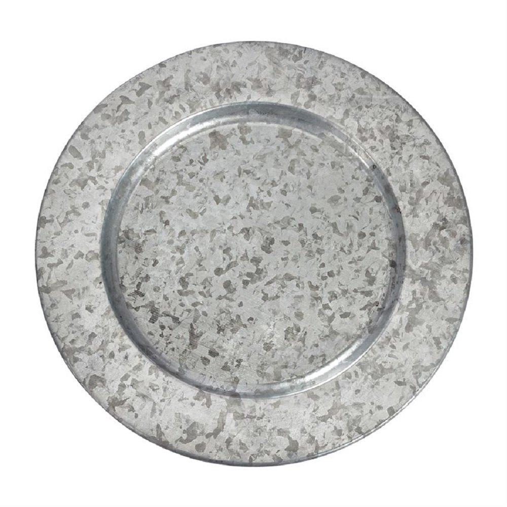 Amazon Com Set Of 4 Galvanized Tin Charger Plates Everything Else
