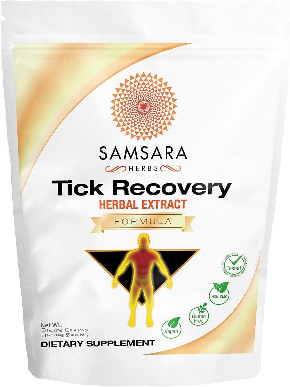 Samsara Herbs Tick Recovery Herbal Powder Formula 16oz 454g – Japanese Knotweed, Cat s Claw, SIDA Acuda, Houttuynia Cordata, Stevia