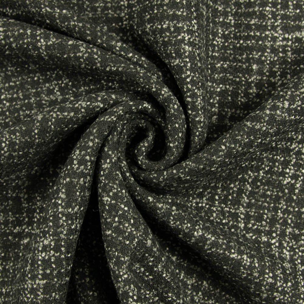 Bouclé Stoff schwarz grau Mantelstoff Preis gilt für 0,5 Meter