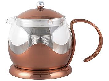 Glas Teekanne creative tops 1200 ml kupfer und glas teekanne la cafetiere origins