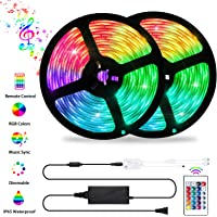 LED Strip Lights Sync to Music, OxyLED 32.8ft 300LED Flexible 5050 RGB Rope Lights with Remote, Color Changing IP65 Waterproof LED Tape Lights kit for Home, TV, Bedroom, Kitchen, Bar, Party