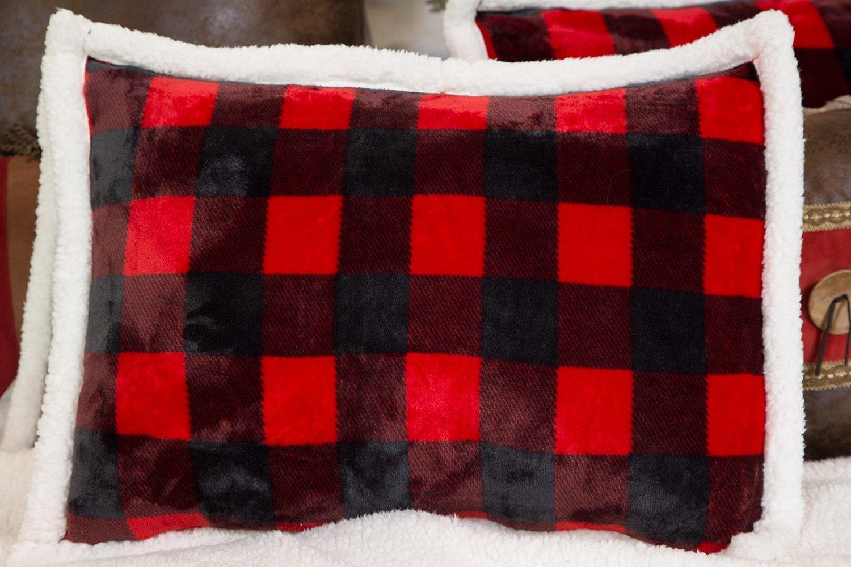 Twin Carstens Inc Carstens Lumberjack Red Plaid Plush Bedding Set JP570