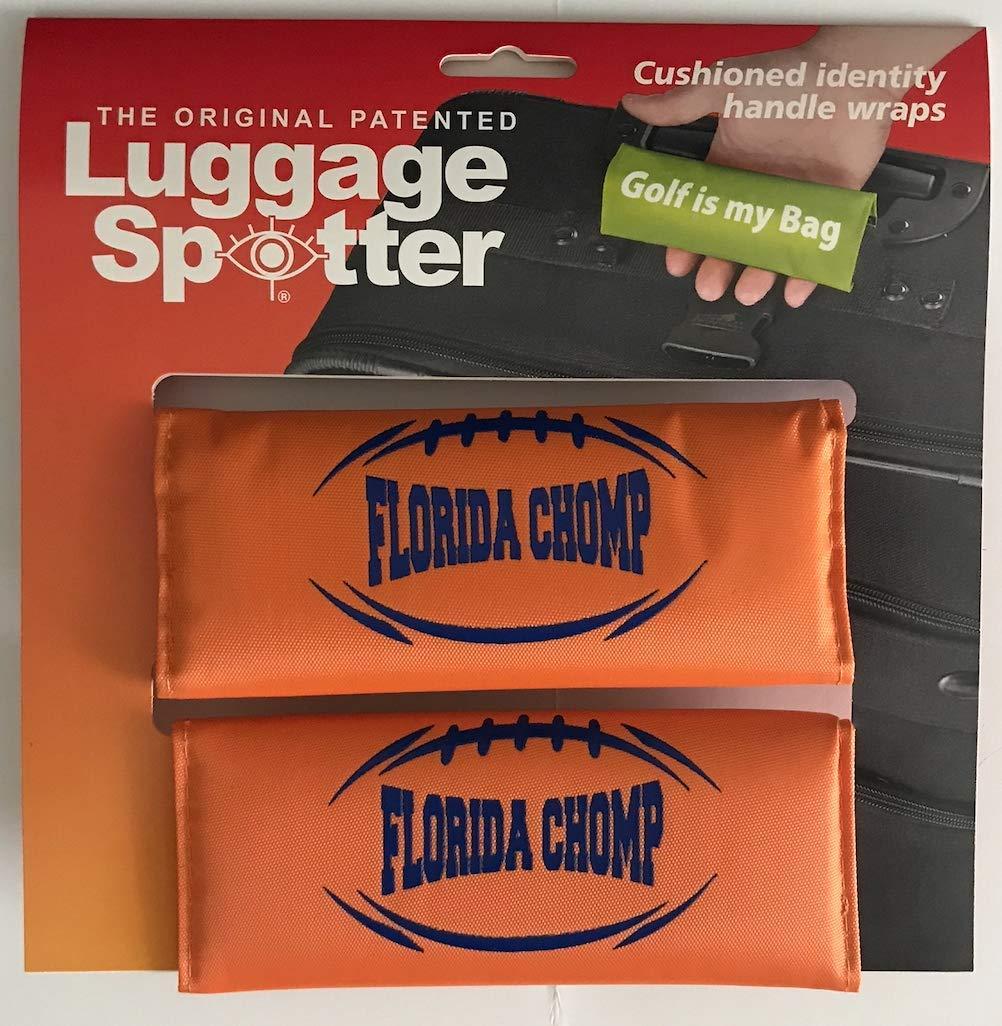 Luggage Spotter Florida Gators Florida Chomp Luggage Locator//Handle Grip//Luggage Grip//Travel Bag Tag//Luggage Handle Wrap 2-PK