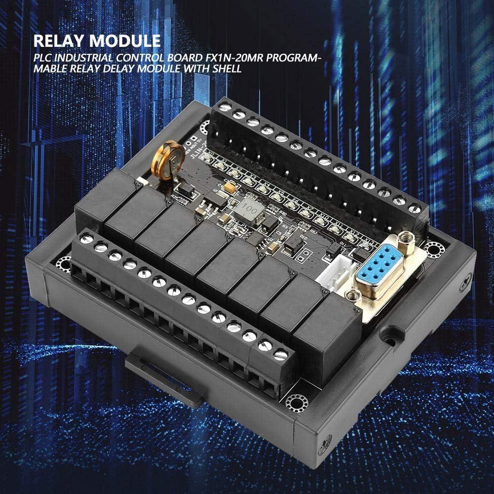 Jadpes PLC Tablero de Control Industrial programable PLC Tablero de Control Industrial FX1N-20MR M/ódulo de retardo de rel/é programable con Carcasa para Arduinos R3 Mega 2560 1280 DSP Arm