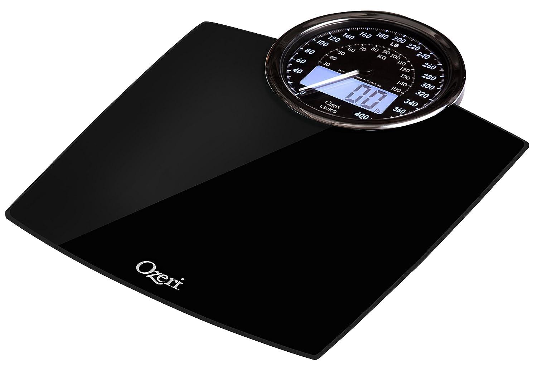 Báscula de baño digital con esfera de peso electromecánico (negro): Amazon.es: Salud y cuidado personal