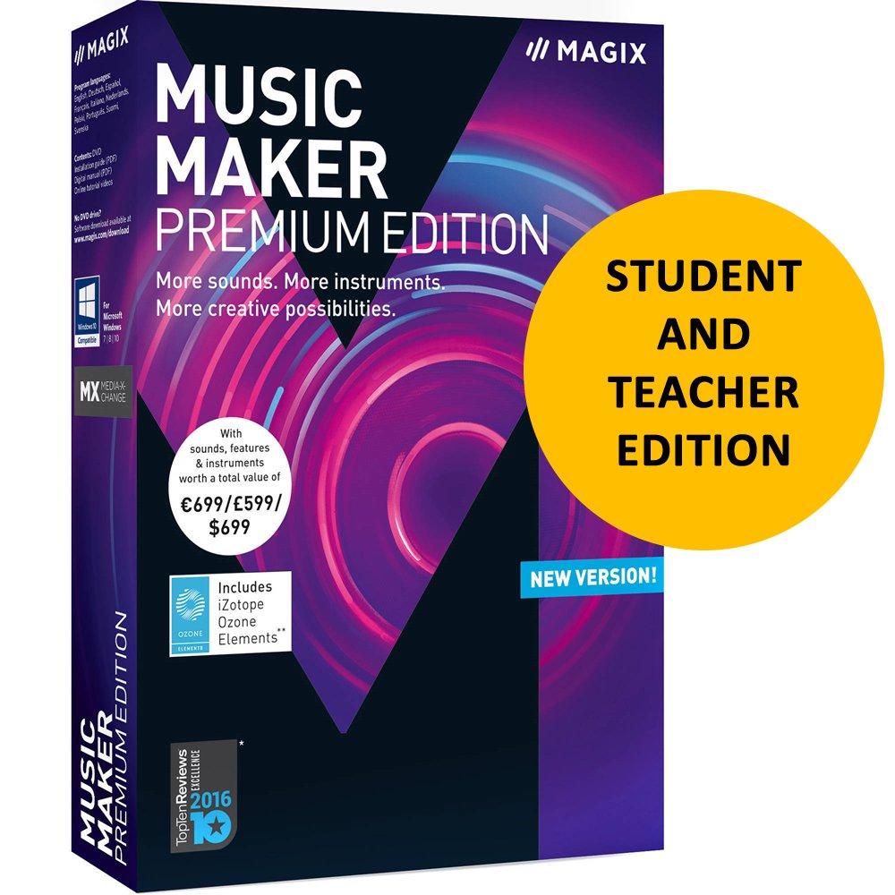 Magix Music Maker 2018 Premium for Students & Teachers by Genesis MGX
