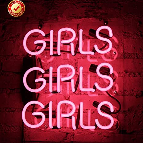 72b87655 Neon Signs Girls Beer Bar Neon Light Pink Handmade Glass Neon Lights Sign  for Bedroom Office