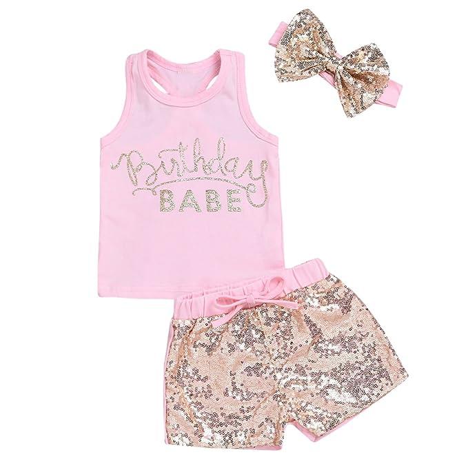 Amazon.com: puseky bebé niña de letras de oro tanque de ...