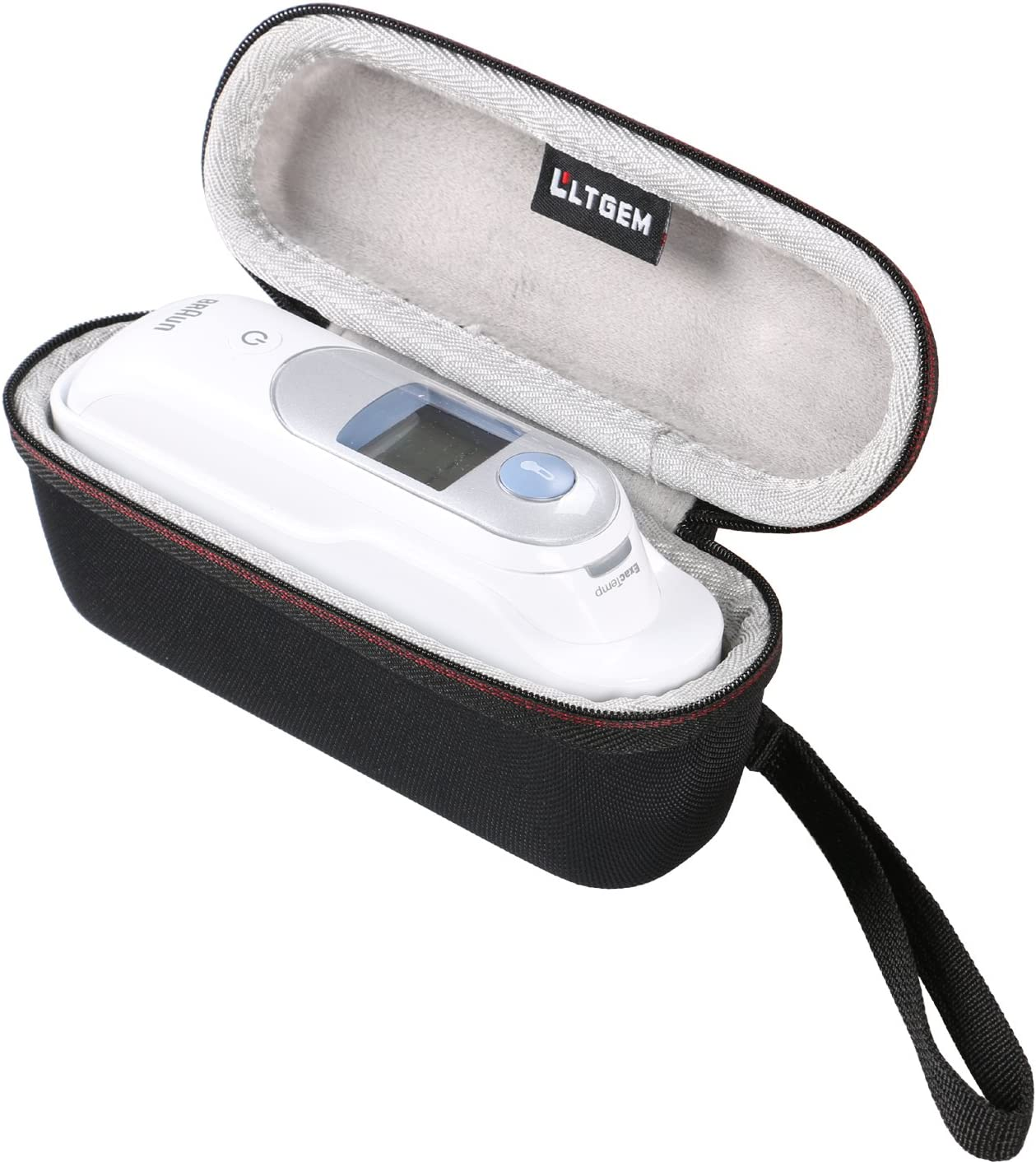 Thermometer Case by LTGEM - Fits for Braun Digital Ear Thermometer ThermoScan 5 IRT6500 & Braun Thermoscan 7 EVA Hard Case Travel Protective Carrying Storage Bag