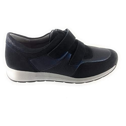 bd05c710388d ARA 12-15016 Oslo Navy Leather and Suede Trainer 4.5  Amazon.co.uk ...