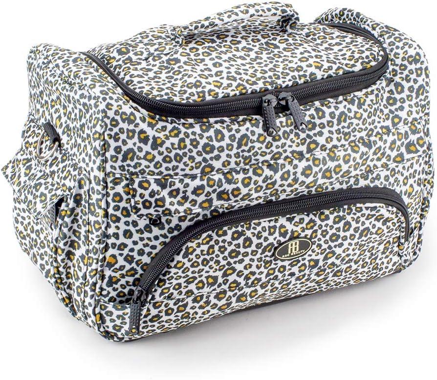 Roo Beauty Hairdressing Tool Bag, Hair Salon Storage Holder, Beauticians Organiser Case in Snow Leopard