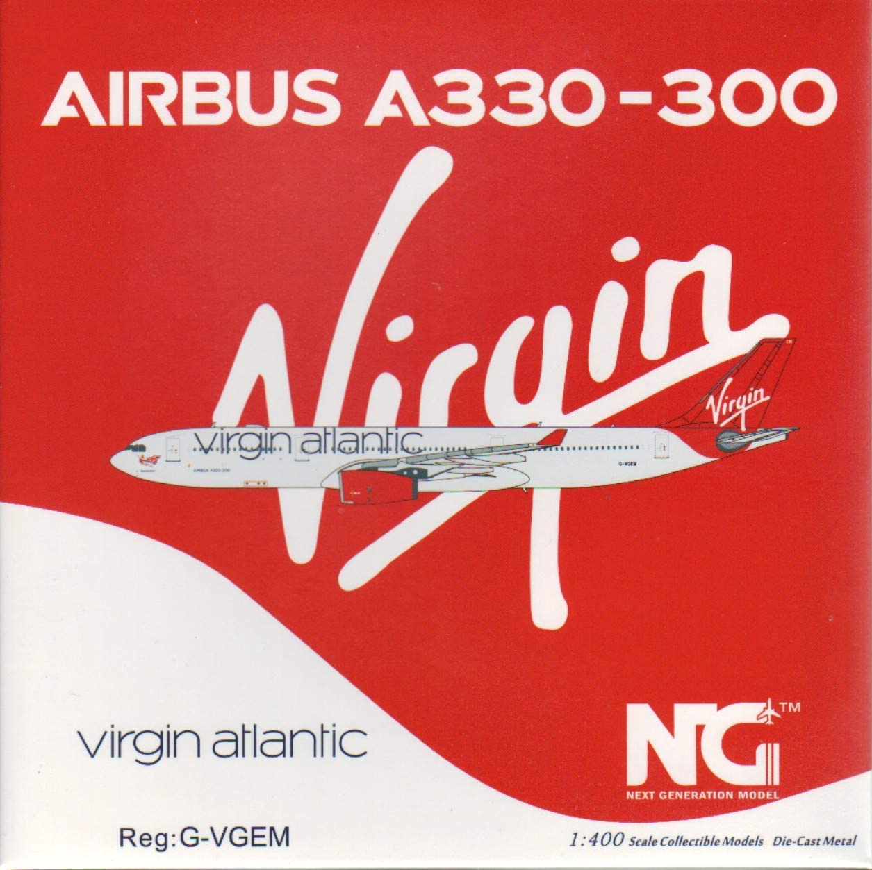 NG Model NGM62007 1:400 Virgin Atlantic Airways Airbus A330-300 Reg #G-VGEM pre-Painted//pre-Built