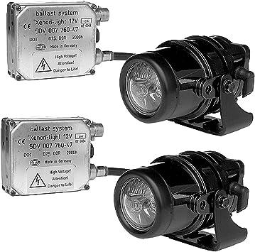 Amazon Com Hella 008390801 Micro De Series 12v 35w Xenon Driving Lamp Kit Automotive