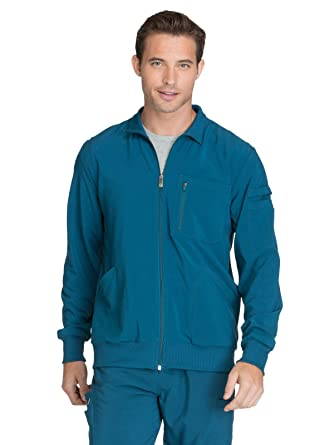 bc79db3b987 Cherokee Infinity CK305A Men's Zip Front Warm-Up Jacket Caribbean Blue XS