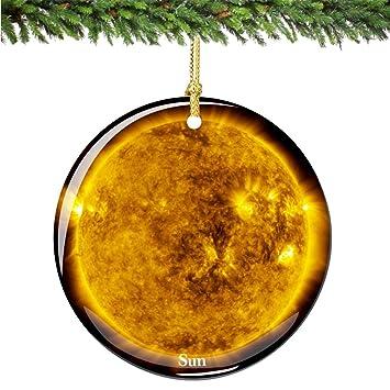 Image Unavailable - Amazon.com: City-Souvenirs NASA Sun Christmas Ornament, Porcelain