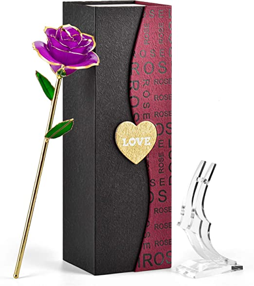 Amazon Com Forgifting Gift For Mom Wife Girlfriend Women Her In Birthday Valentines Day Mothers Day Anniversary Gold Rose Flower 24k Gold Dipped Hard Resin Preserved Special Purple Rose Stand Home,Free Kitchen Design Software Online Australia