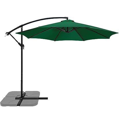 Best Choice Products 10u0027 Patio Offset Umbrella Outdoor Market Umbrella   Green