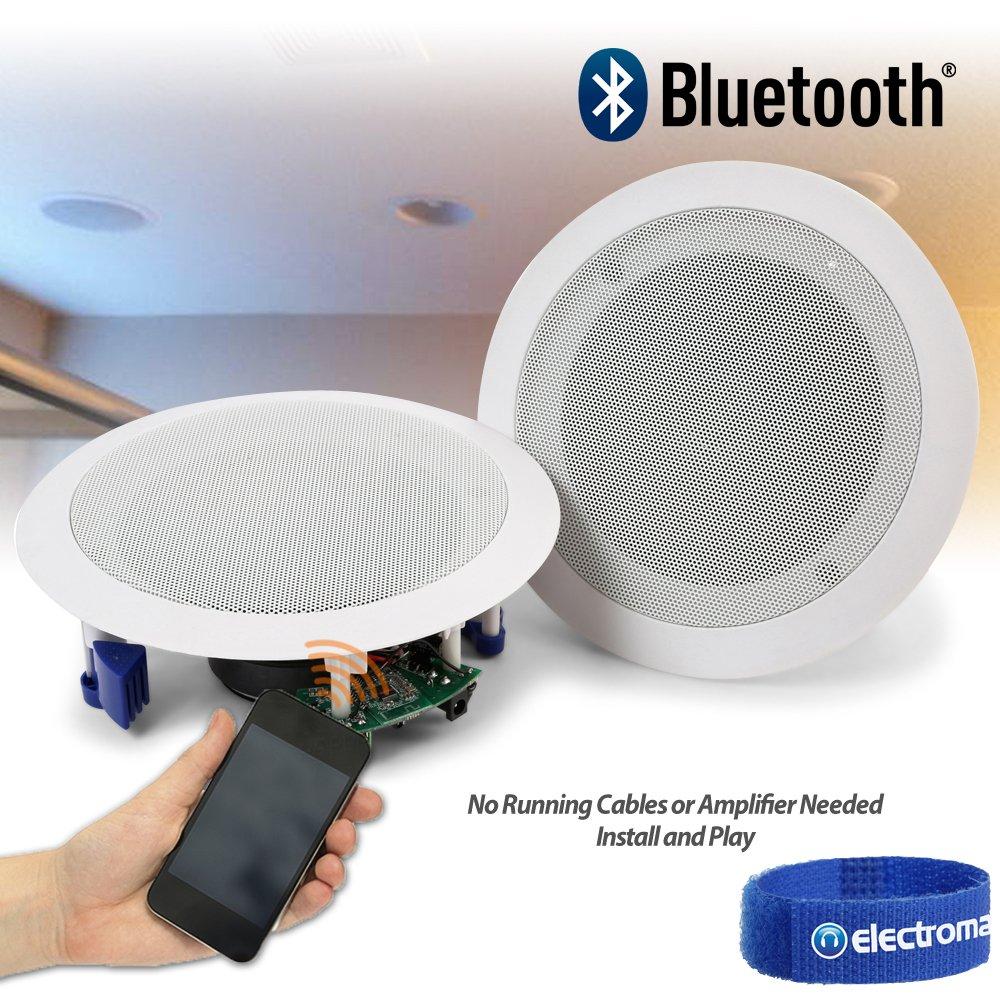 Power Dynamics Ceiling Speakers 60W Wireless Bluetooth Audio ...