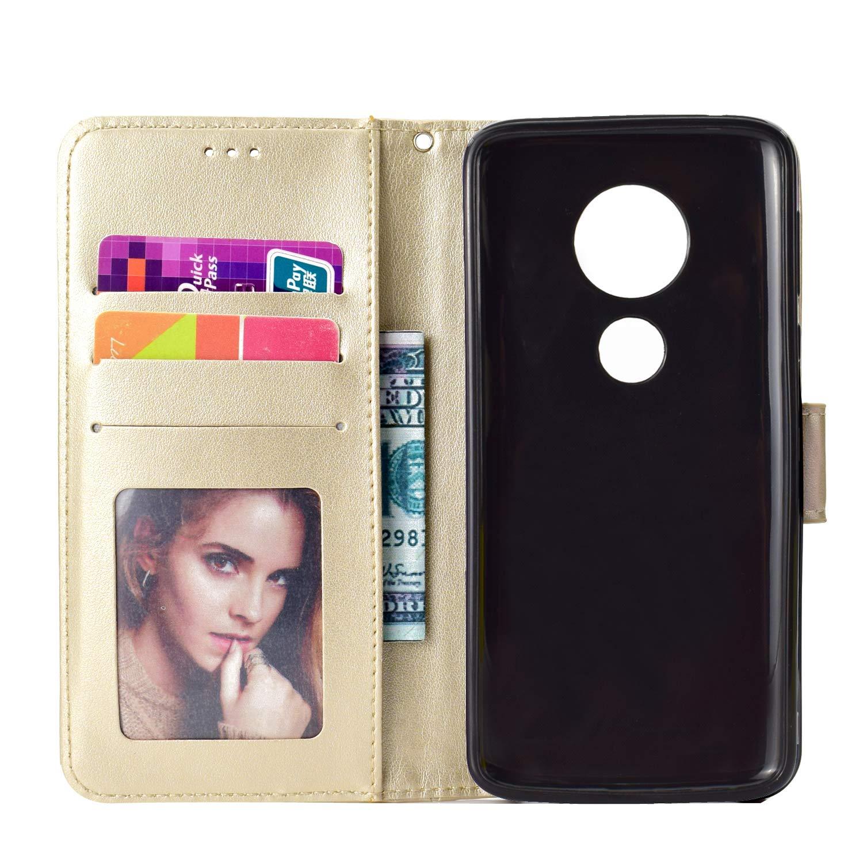 LOHHA11404 Grau Lomogo Moto G6Play Schutzh/ülle Brieftasche mit Kartenfach Klappbar Magnetverschluss Sto/ßfest Kratzfest Handyh/ülle Case f/ür Motorola Moto G6 Play // E5 H/ülle Leder