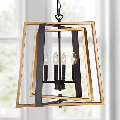 LALUZ Modern 4-Light Chandelier Lighting Fixtures Hanging