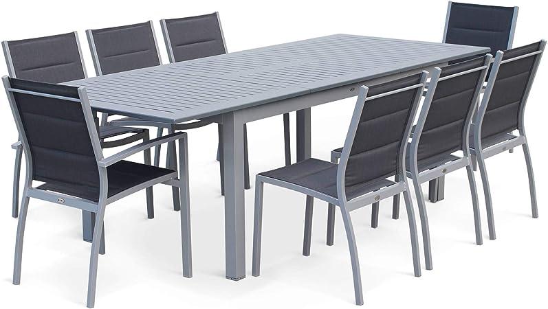 Salon De Jardin Table Extensible Chicago Gris Table En