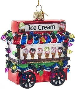 Kurt S. Adler Kurt Adler Noble Gems Ice Cream Cart Glass Ornament