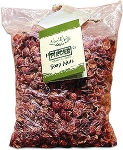 NaturOli Overstock Sale Organic Soap Nuts/Soap Berries Pieces/Bulk - Five POUNDS (1000+ Loads) Seedless USDA Certified - Fresh Wild Harvest - Hypoallergenic, Non-Toxic
