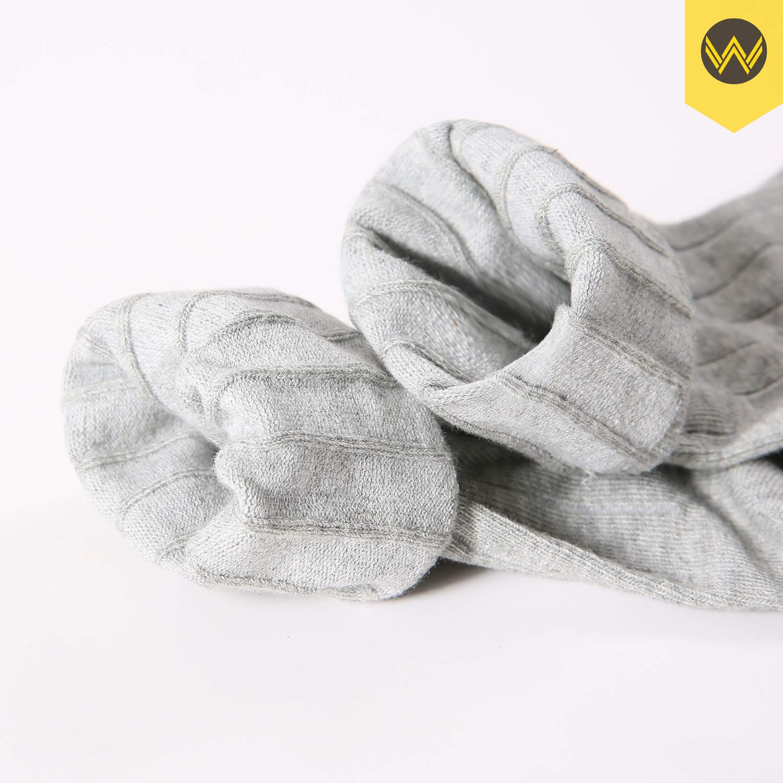 WANDER Mens Classic Dress Socks 6 Pack for Office Work Lightweight Business Men 7-13