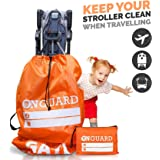 Double Stroller Bag with Storage Pouch Stroller Travel Bag Waterproof Rip-Resistant Polyester Compact Foldable Gate…