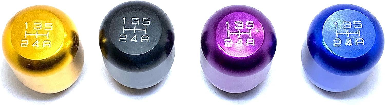 BlackZero Universal 5-Speed Manual Shift Knob with Adapters MT Shift Knob Purple