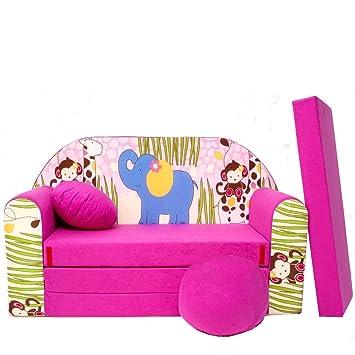 h16 + - divano letto per bambini divano 3 in 1, composto da divano ... - Divano Letto Per I Bambini