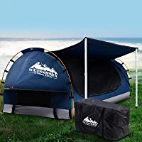 WEISSHORN Swag Double Tent 2-Person Camping w/ 7CM Mattress Waterproof Canvas Dome Portable Shelter Free-Standing Couple…