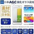 JGLASS 日本旭硝子 HTC J BUTTERFLY HTL23 強化ガラス 保護フィルム バタフライ HTL23 気泡防止 / 指紋防止 / 硬度9H / 0.23mm