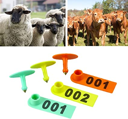 100 Set Sheep Goat Pig Cattle Cow Livestock Ear Number Tag 001-100 Farm Animal