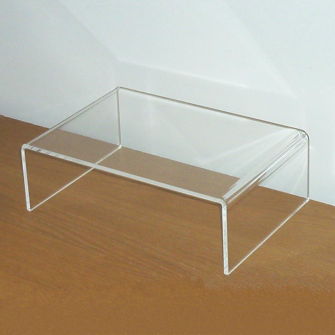 TV/bildshirm/televisor Soporte elevador/Stand/TV Banco accesorio de acrílico cristal, grande 60 x 24 x 15 cm: Amazon.es: Hogar