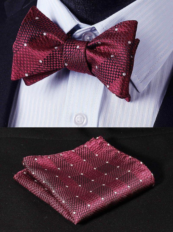 Hisdern Varios Clasico 6 Clips Suspendedor /& Corbata de mono /& Plaza de bolsillo Set Forma Y Tirantes ajustables