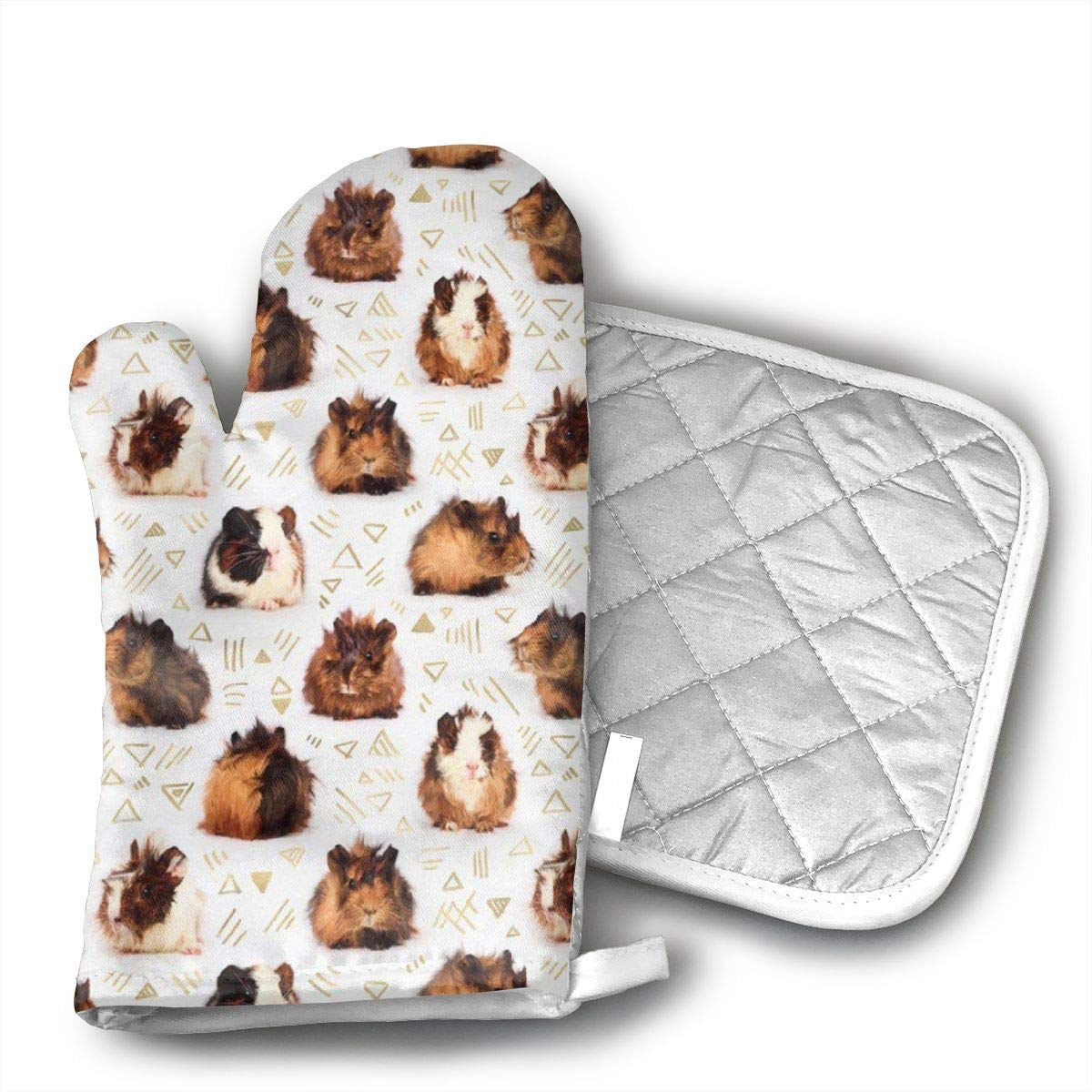 Wiqo9 Guinea Pigs Oven Mitts and Pot Holders Kitchen Mitten Cooking Gloves,Cooking, Baking, BBQ.