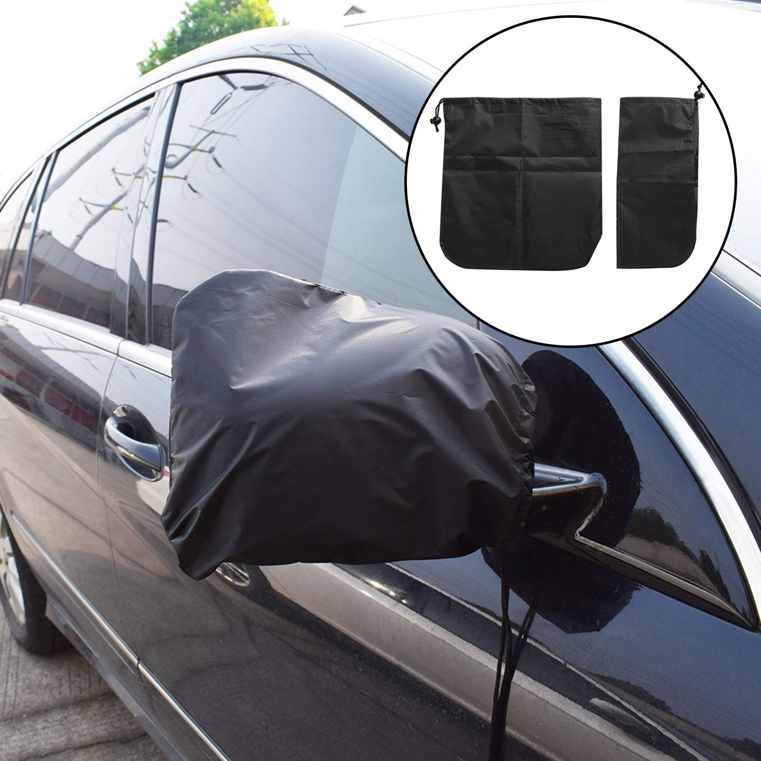 NCElec Mirror Cover for Snow Frost Guard Rear View Mirror Covers Universal for Cars SUV Truck Van,Side Mirror Covers for Cars Anti Bird Droppings 30 X 25cm