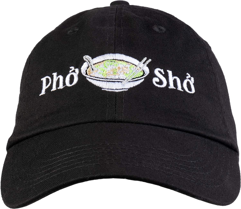 Pho Sho | Funny Vietnamese Cuisine Vietnam Foodie Chef Cook Food Humor Baseball Cap Dad Hat Black
