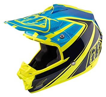 Troy Lee Designs Neptune adulto SE3 Motocross casco de moto, color amarillo