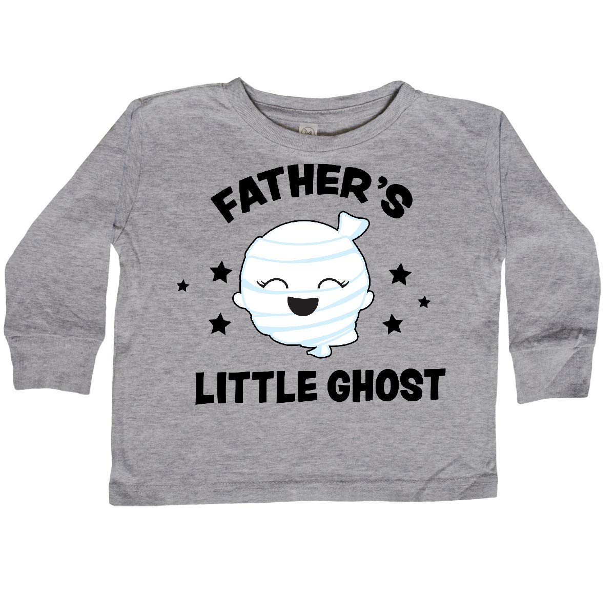 inktastic Cute Fathers Little Ghost with Stars Toddler Long Sleeve T-Shirt