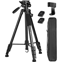 VICTIV 72 inch Camera Tripod, Aluminum Lightweight Travel Tripod for DSLR with Phone Holder and Extra Quick Release…