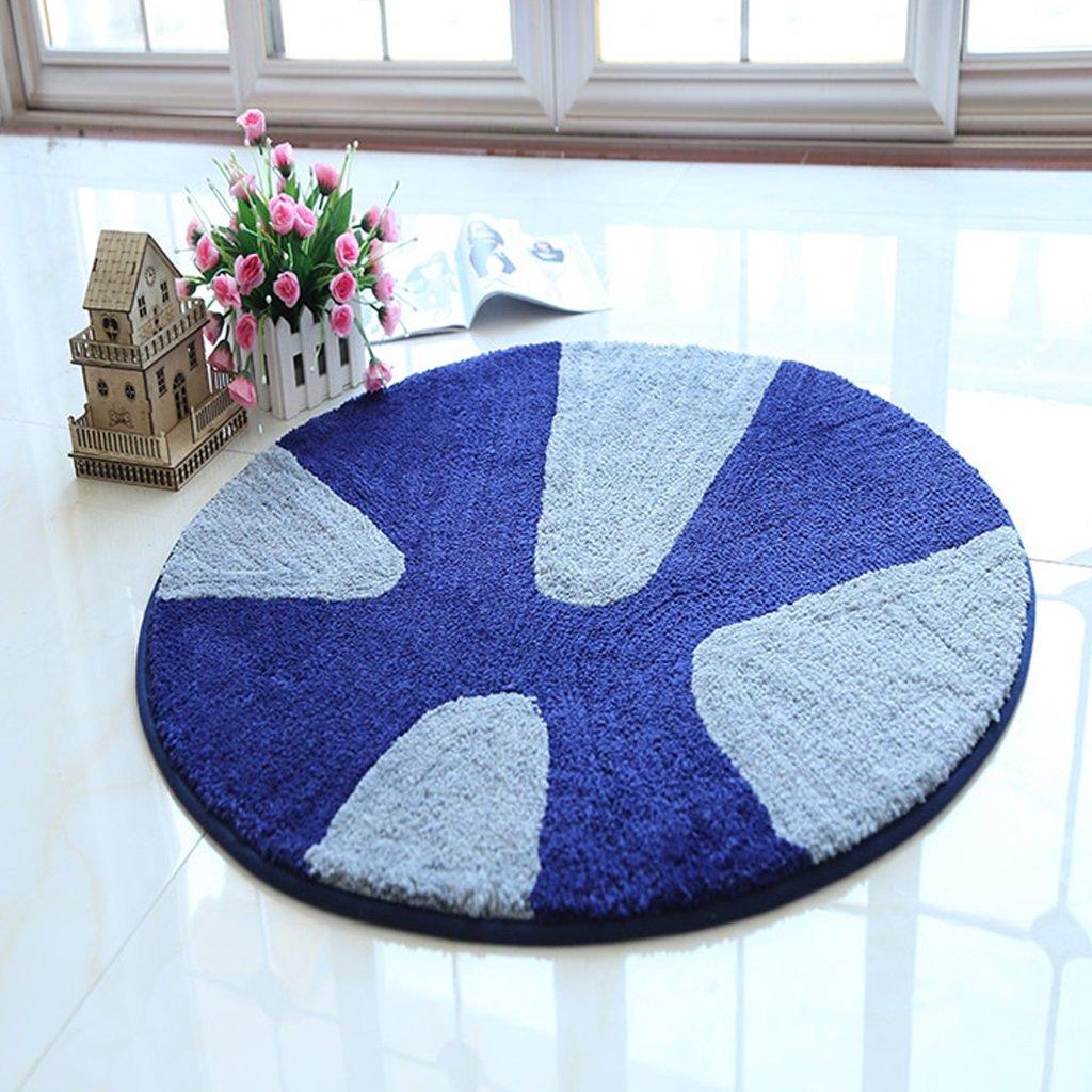 DGF Carpet round non-slip carpet computer chair cushions children's room living room bedroom mats carpet ( Size : Diameter 160cm )